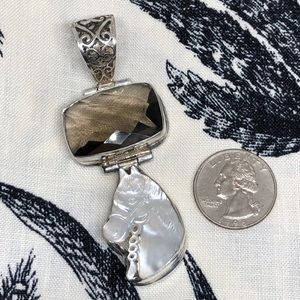 Sterling Silver Horse Shaped Pendant